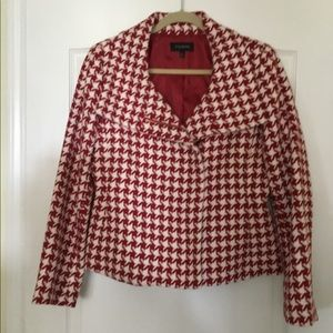 Talbots Jacket Size 14 Red and White